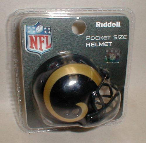 Riddell pocket size Rams helmet