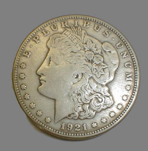 1921 Morgan Silver Dollars, random