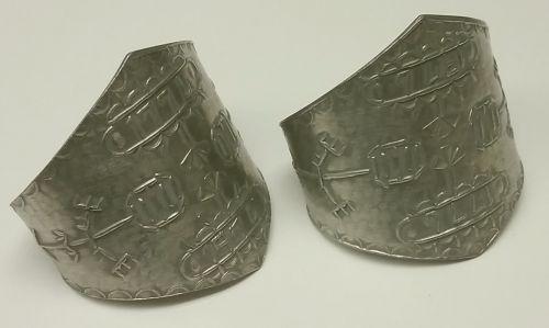 Pair of Danish bicentennial napkin rings
