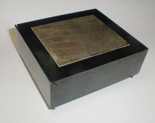 Deco Towle Sterling Silver & Black Melamine Cigarette Box
