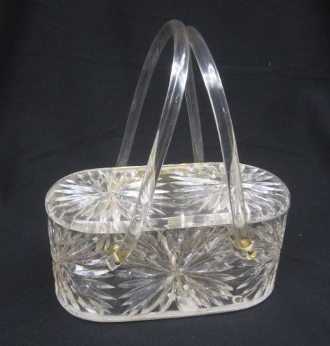Lucite Clear oval box purse