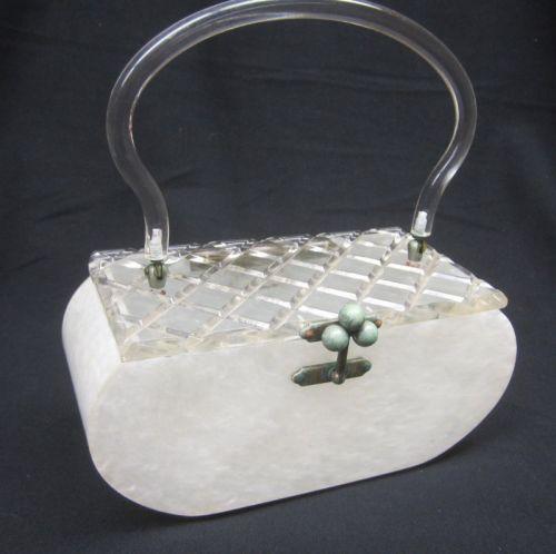 Lucite box purse