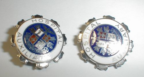 Pair of sterling Hospital Auxiliary pins