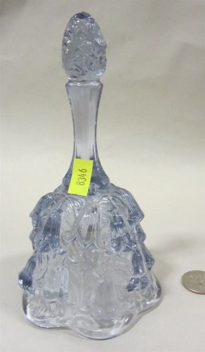 Fenton blue glass bell