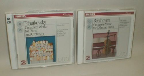 PHILIPS Classics Tchaikovsky and Beethoven DUO cd sets.